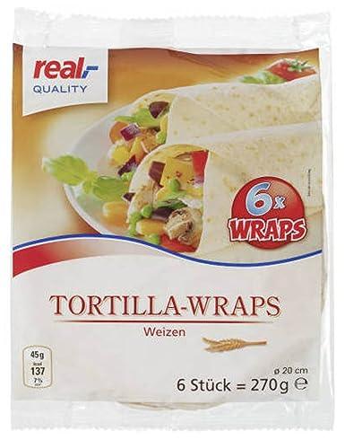 real,- QUALITY Tortilla-Wraps Weizen 6x Wraps: Amazon.de ...