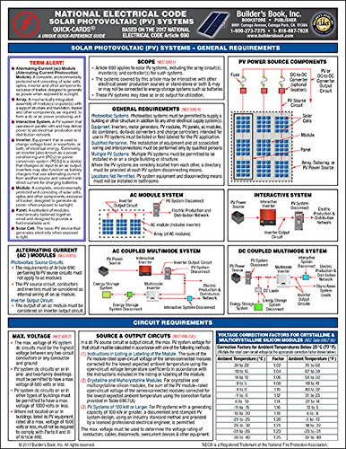 PV) Systems based on 2017 National Electrical Code (NEC) Quick-Card (General Electric Solar)