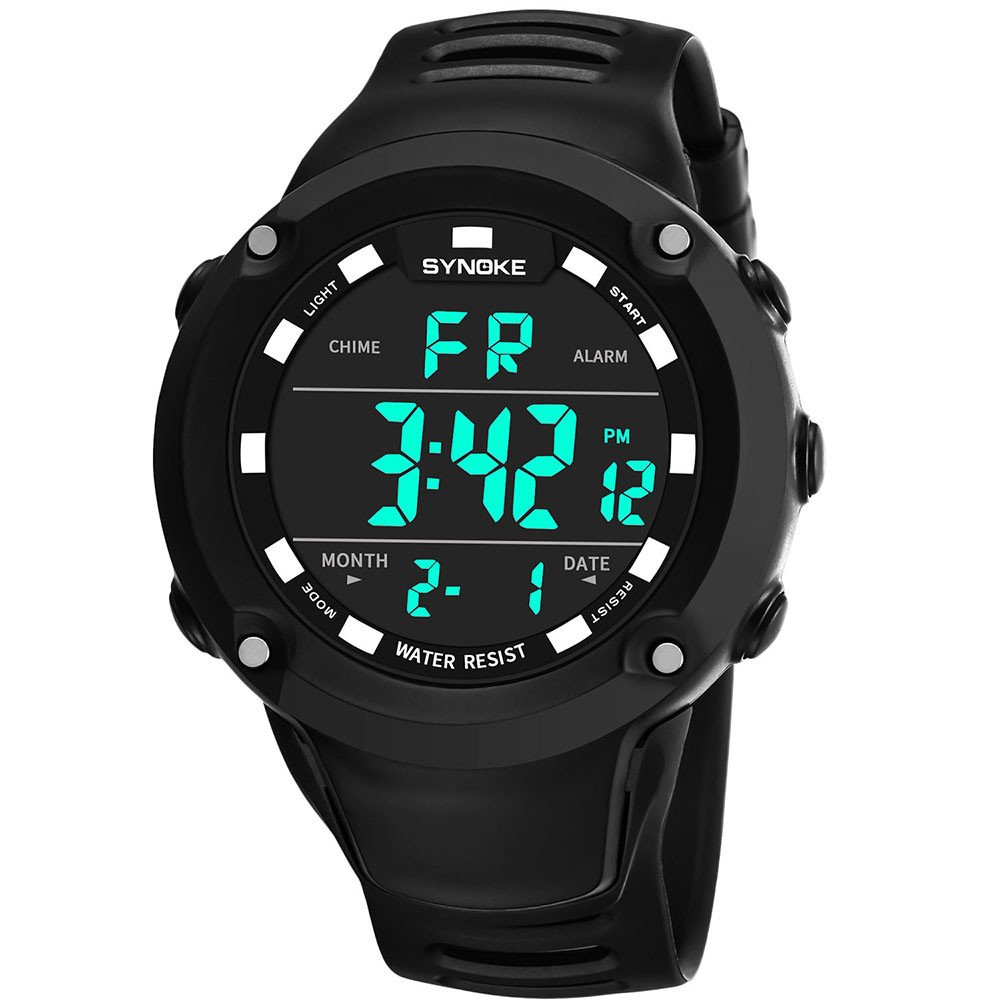 Ulanda Eu Mens Sports Watches Led Digital Movement Waterproof Military Sport Wristwatch Sale Clearance Cheap Round Dial High Quality Isis Prepared With Various Analog Circuits Abs