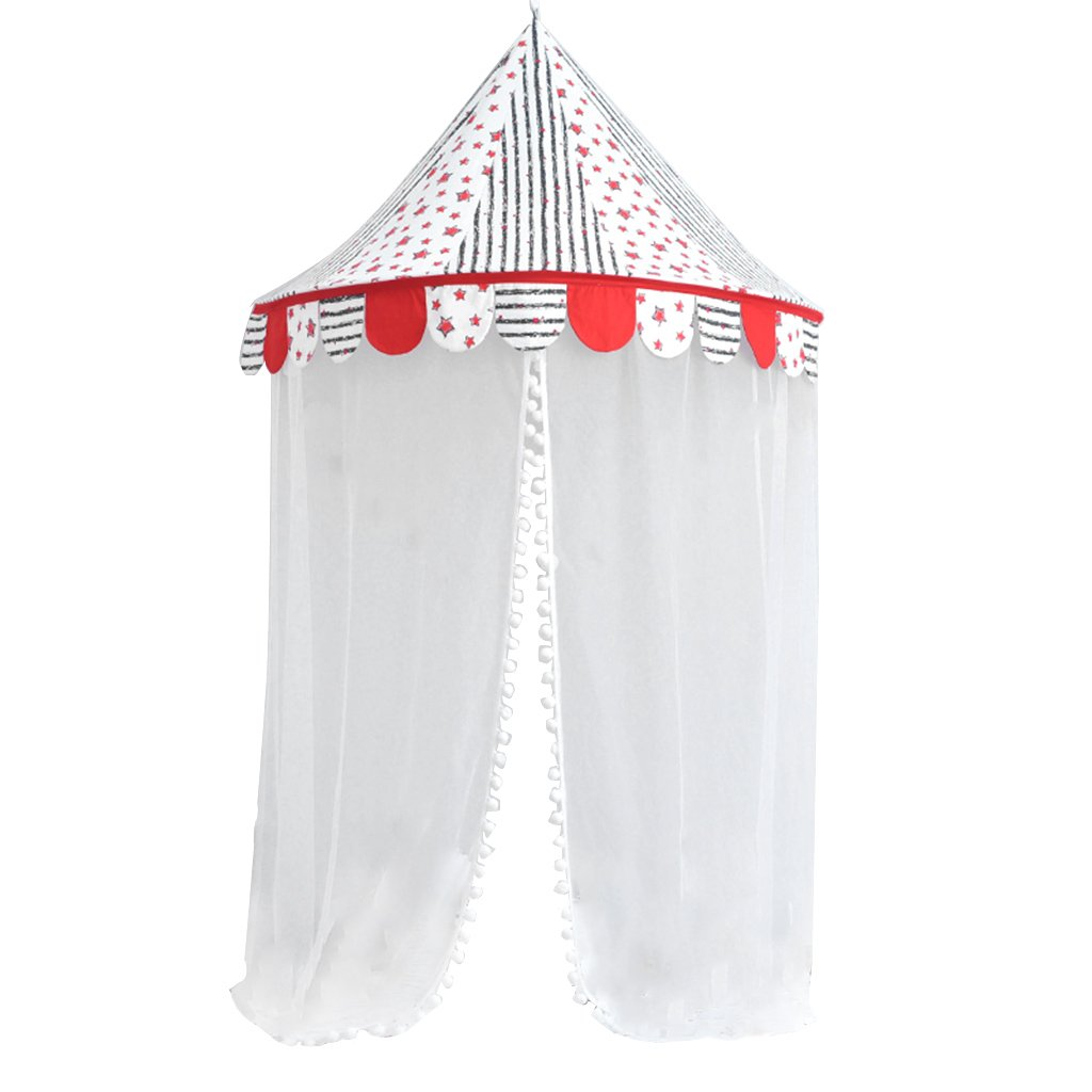 Homyl Baby Bed Canopy, Children Hanging Play Tent With Mosquito Net for Bedroom Decor, Study Reading Corner - Star, 50.39 x 27.56 inch