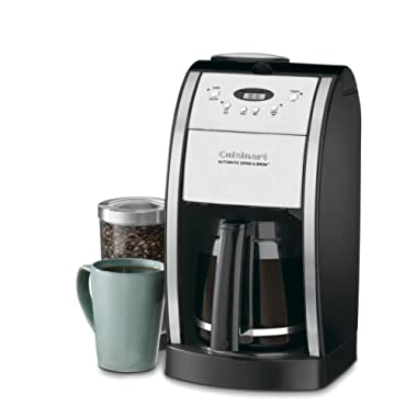 Cuisinart DGB-550BK Grind & Brew Automatic Coffeemaker, 12 Cup, Silver/Black