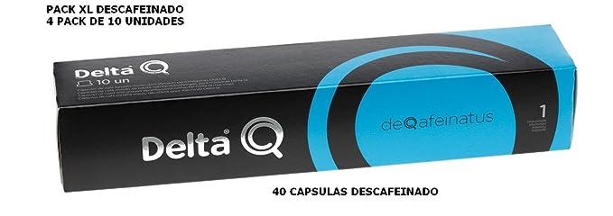 Pack Xl 40 Café descafeinado - Cápsulas Delta Q - INTENSIDAD 1 - 4 X10 capsulas,DEQAFEINATUS: Amazon.es: Alimentación y bebidas