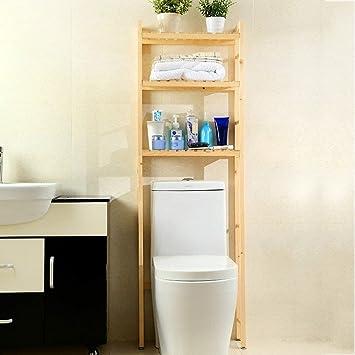 Badezimmer Regal Dusche Washroom Eck-WC Rack Handtuch aus Holz, 2 ...