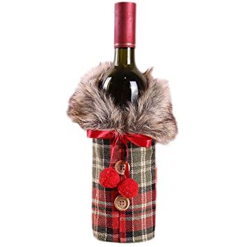 s. Charma Adornos de Navidad Peluche Set Botella Vino ...