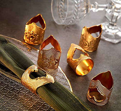 Turkey Napkin Rings - Gold Case - Gold Plated Premium