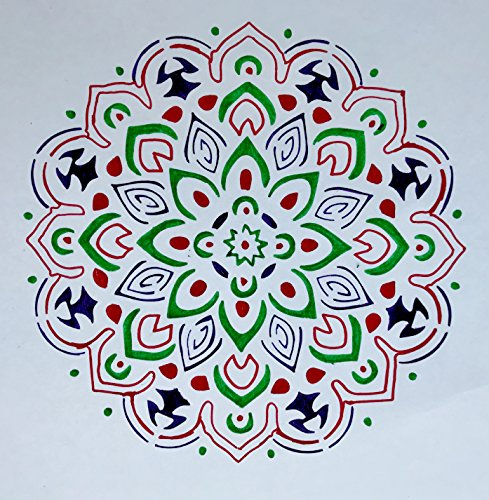 Stencil by The Bodhi Tribe- Mandala Yoga Stencil for DIY Painting Projects