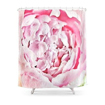 Amazon Sukuraceci Bathroom Pink Peony Shower Curtain 72 By