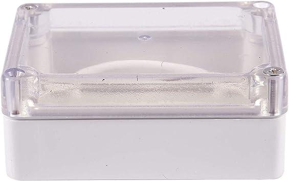 SODIAL(R) 85x58x33mm Cubierta transparente impermeable Caja de proyecto de cable electronico de plastico estuche cerco: Amazon.es: Bricolaje y herramientas