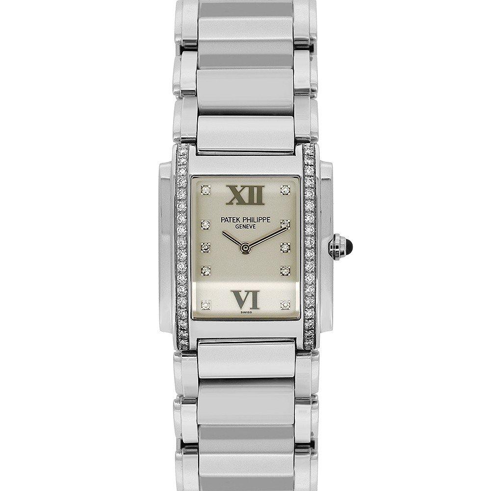 Patek Philippe Twenty 4 quartz womens Watch 4910-10A-011 (Certified Pre-owned)