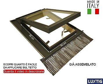 Lucarne Pour Toit Fenêtre De Grenier Skylight Bois Aluminium à