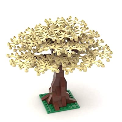 YIFAN 104Piece Tree Building Blocks, MOC Miniature Model Tree, DIY Small Particle Assembly Tree Model, Kids Stacking Blocks Creative Toys - Beige: Toys & Games