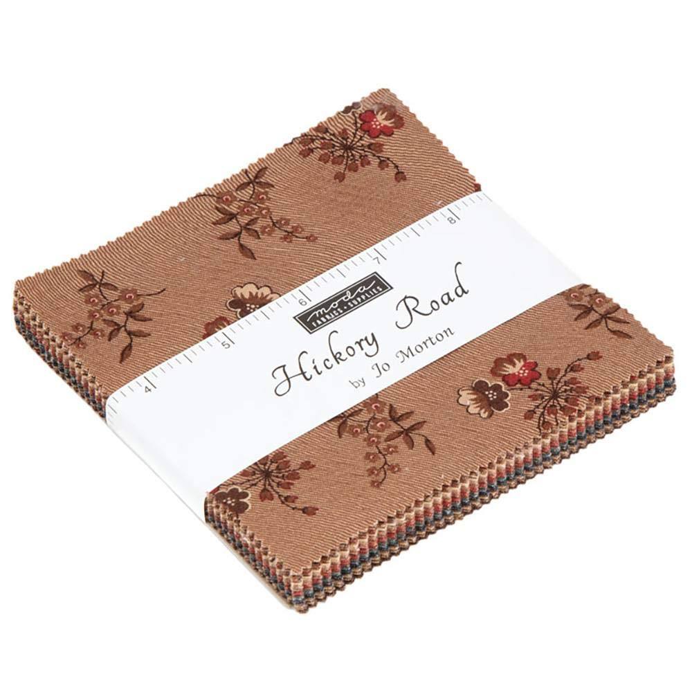 Hickory Road Charm Pack by Jo Morton; 42-5 Inch Precut Fabric Quilt Squares