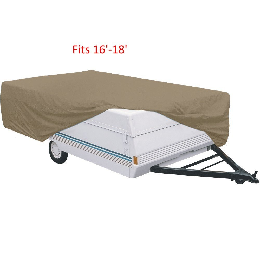 Pop Up Tent Trailer Cover- Fit 16'-18' Trailer