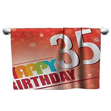Bensonsve Toalla de 31 cumpleaños, Tarta Treinta Velas y ...