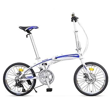 YEARLY Adultos bicicleta plegable, Bicicleta plegable Ligero Portátil Hombres y mujeres 16 velocidad Bikes plegables