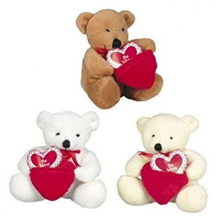 Dozen Plush Valentine Bears with Pocket Be Mine Hearts - Bulk Wholesale Toys
