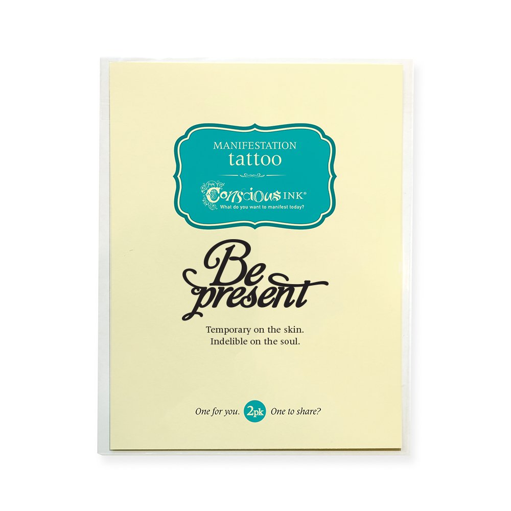 """CONSCIOUS INK MANIFESTATION TATTOO 2-PACK """"BE PRESENT"""" (SET OF 2)"""