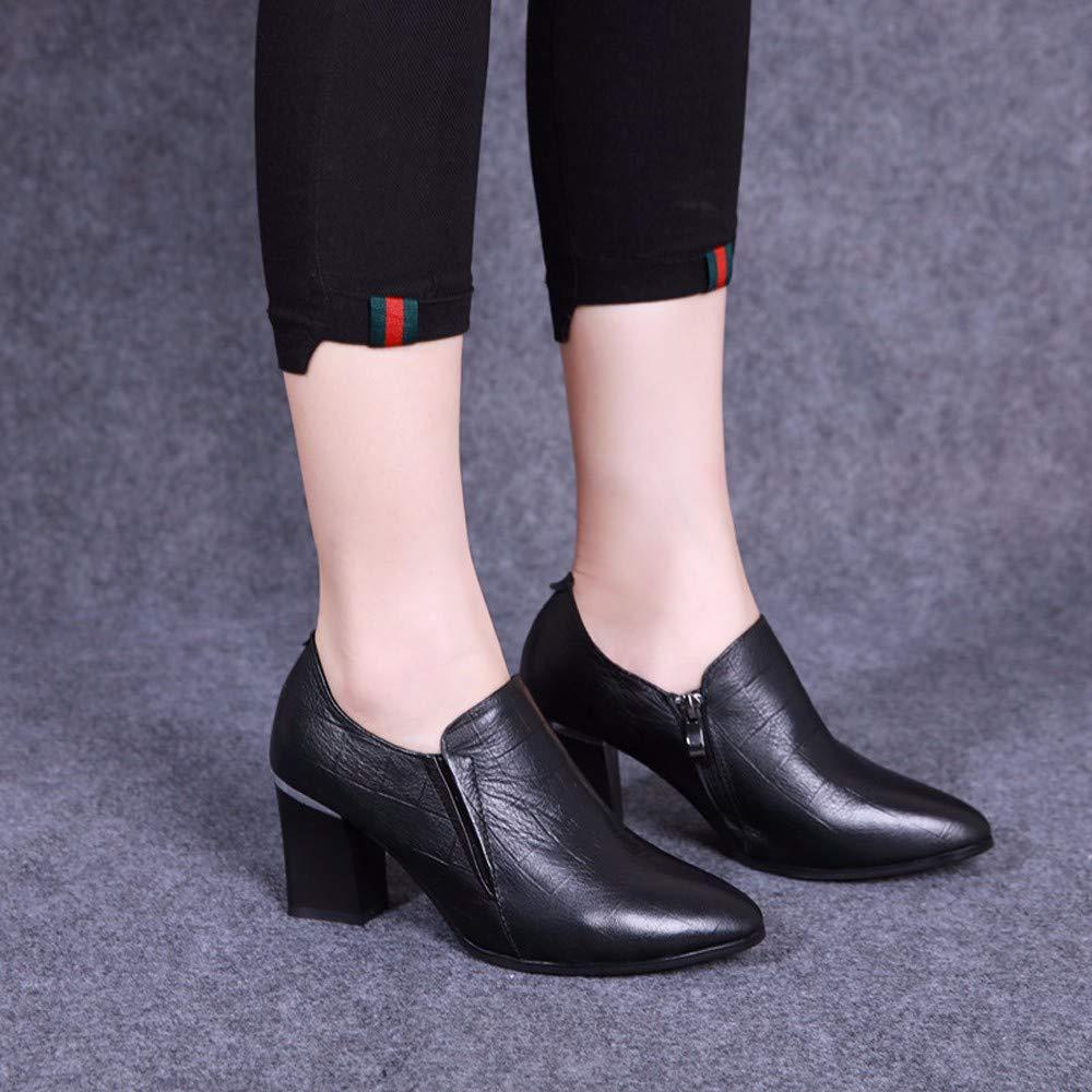 KOKQSX-Damen - Stiefel joggen Leder lässig lässig lässig Kurze Stiefel 6042ba