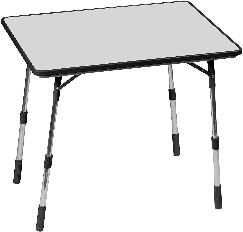 Lafuma mesa de jardín, 80x57 cm, Plegable, con altura ajustable, Resistente a la intemperie, Mayotte, Carbón (Gris), LFM1488-3631