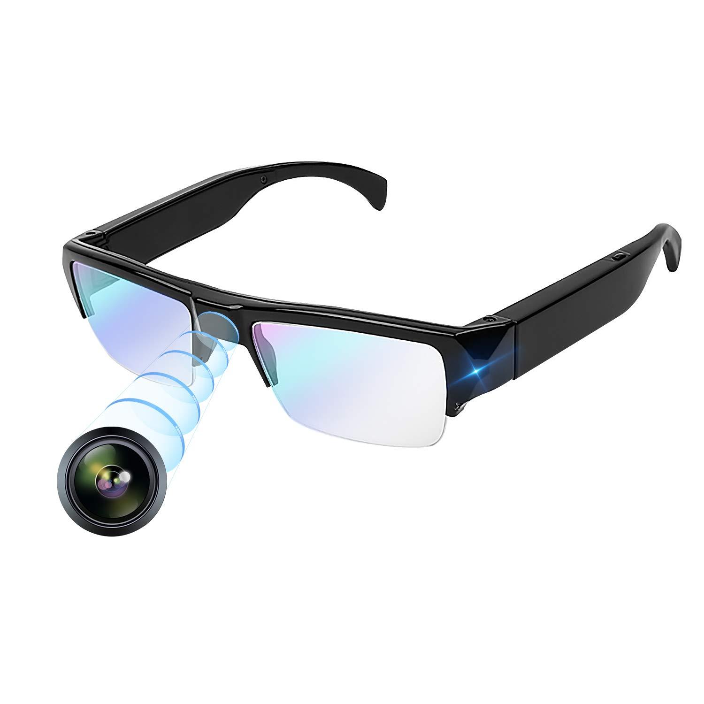 【新品本物】 YAOAWE カメラメガネ 超小型カメラ メガネカメラ 1080P HD 隠し スパイカメラ 小型 監視カメラ 防犯 ミニカメラ SDカード拡張 ウェアラブル レコード 家庭 法律 アウトドア マルチシーンを使用 (ブラック)  ブラック B07Q97TF4C, 田布施町 7428ea61