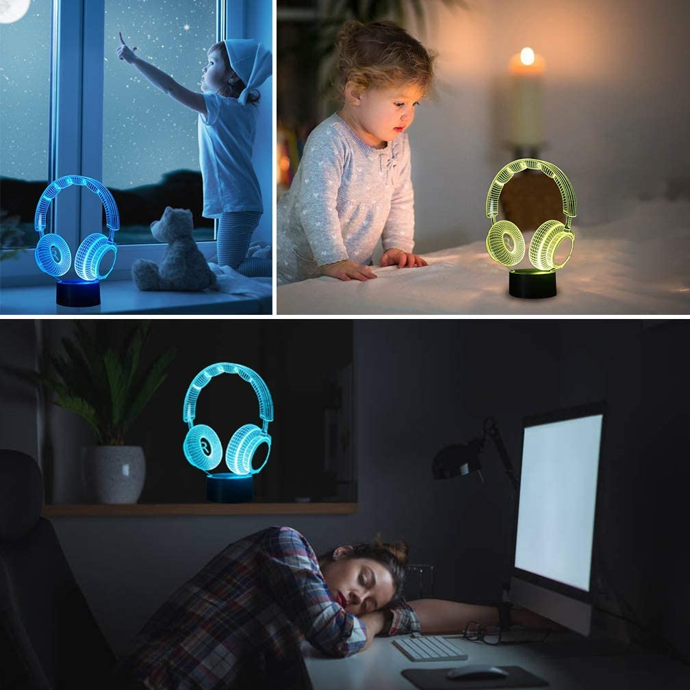 3D Night Light for Boys Girls Table Desk Lamp 7 Color Change Decor Lamp Perfect Gifts Birthday Festival Christmas for Baby Teens Friends 3D Illusion Lamp Dinosaur