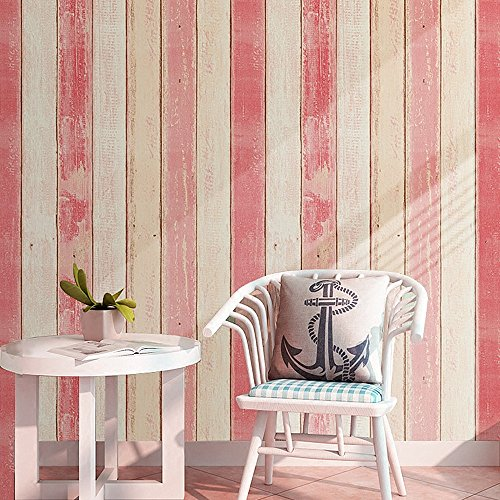 Reusable Peel (Blooming Wall Distressed Wood Panel Peel and Stick Wall Decor Wallpaper (P4962))