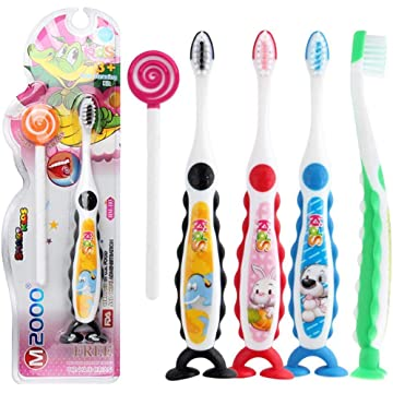 Ladiy Cartoon Handle Cute Kids Toothbrush Soft Toothbrushes