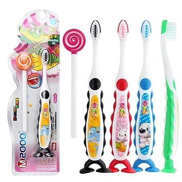melysEU Cepillo Dental,Cerdas Suaves y Sedosas, Diseñadas para Dientes y Encías más Pequeños,para niños Mayores de 3 años,Color al azar(Children ...