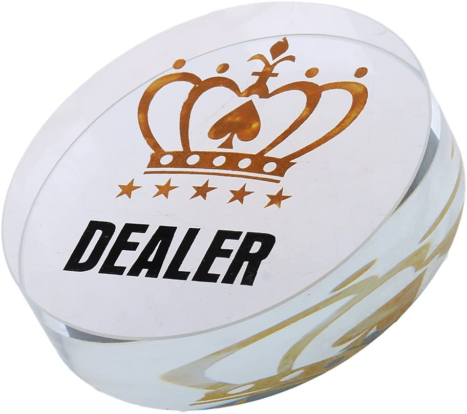 Texas Hold/'em Dealer Chip Poker Game Button fr Casino Bounty Tournament Prop