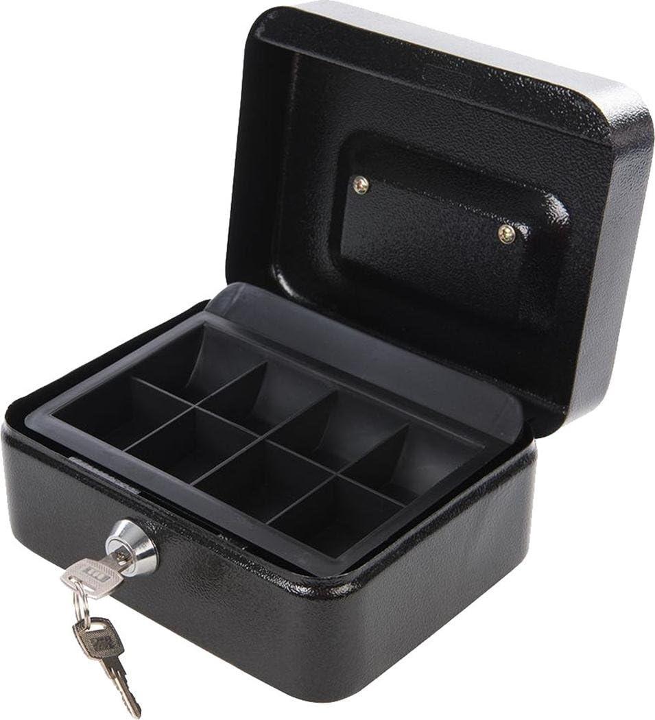 Silverline Caja metálica de seguridad con llave, 165 x 128 x 80 mm con bolígrafo: Amazon.es: Bricolaje y herramientas