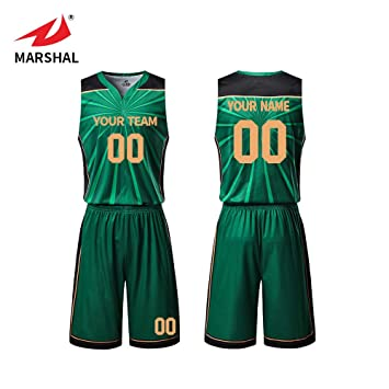 Zhouka Custom Mens Sublimation Printing Logo And Number Team Green