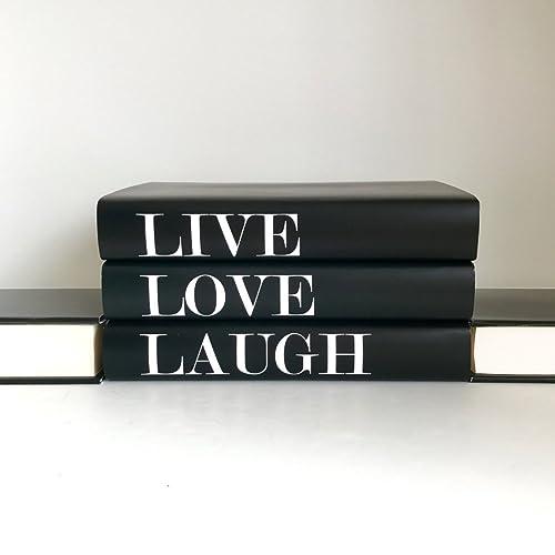 Decorative Books Live Love Laugh, Interior Design Books, Coffee Table Books,  Quote Books