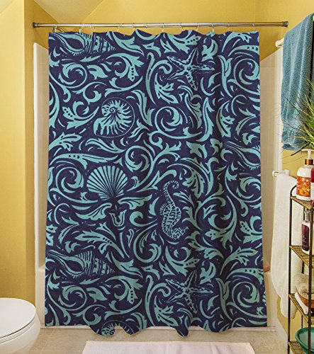 Sea Scapes Sea Life Collage 3PF-GEN-SCDGEN Manual Woodworkers /& Weavers Shower Curtain