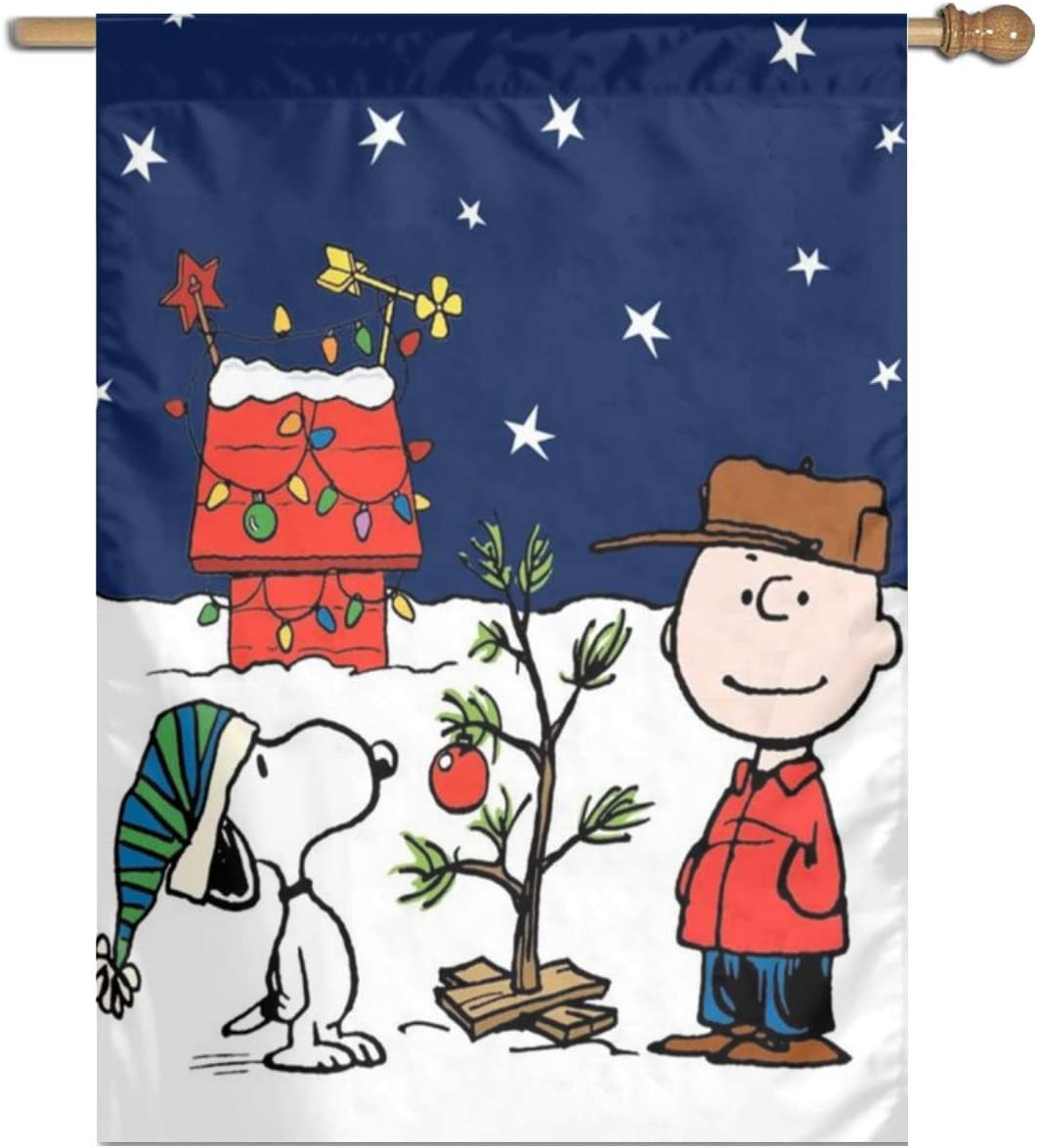 LeosWare Snoopy and Peanuts Charlie Brown Christmas Garden Colorful Decoration Lawn Sign