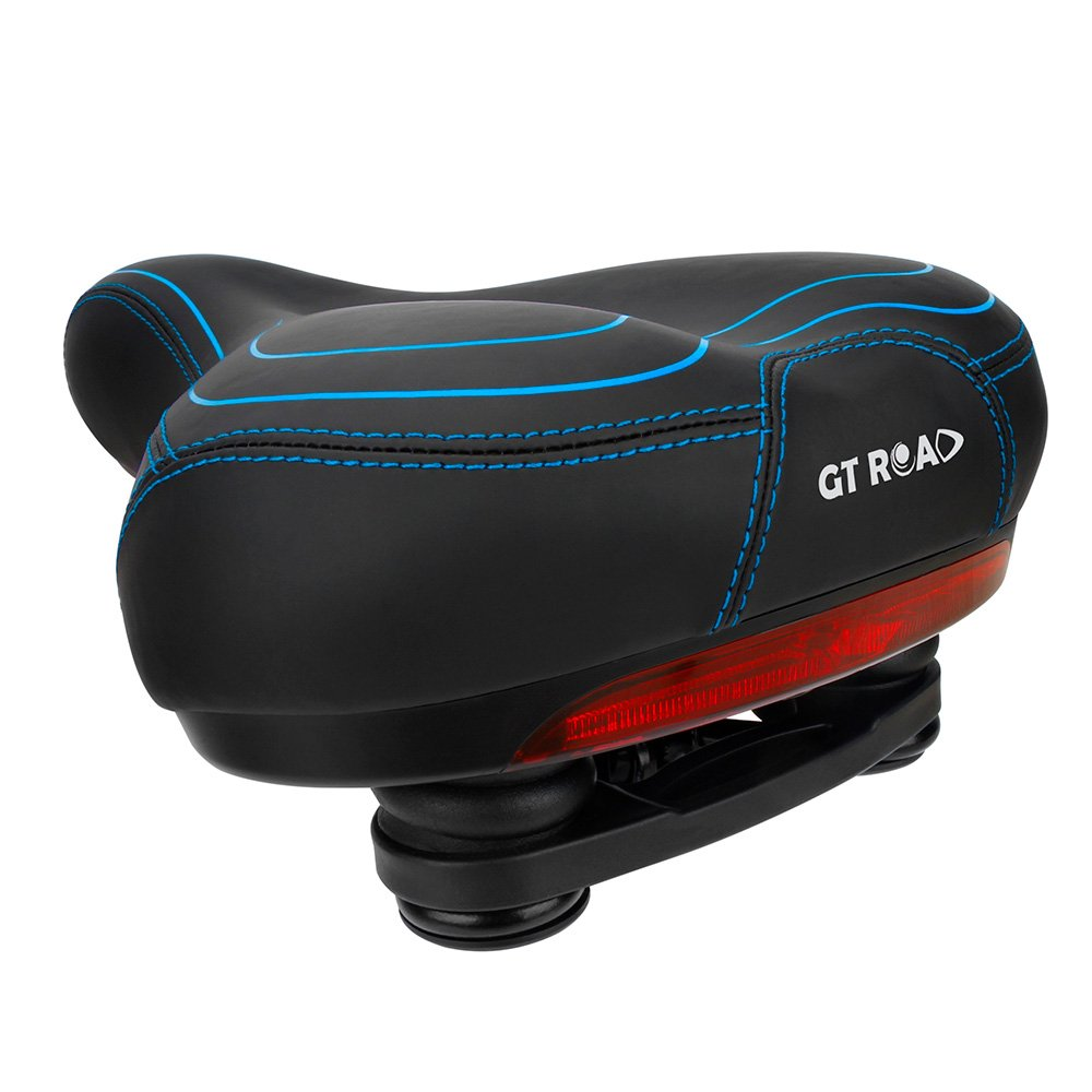 GT ROAD Bike Seat Waterproof Safety Taillight, Memory Foam Padded Bicycle Saddle(Reusable Drawstring Bag Seat Cover Included)