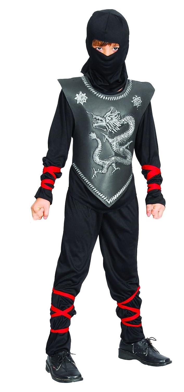Reír Y Confeti - Ficnin019 - Disfraces para Niños - Traje Negro Chico Dragón Ninja - Boy - Talla L