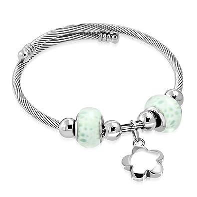 Edelstahl Keltischer Verdrehte Kabel Draht Blume Charm Pandora Beads ...