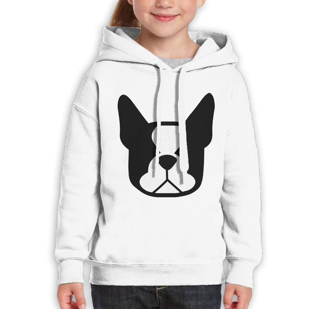 Bdna Teenager Pullover Hoodie Sweatshirt Boston Terrier Teen's Hooded for Boys Girls