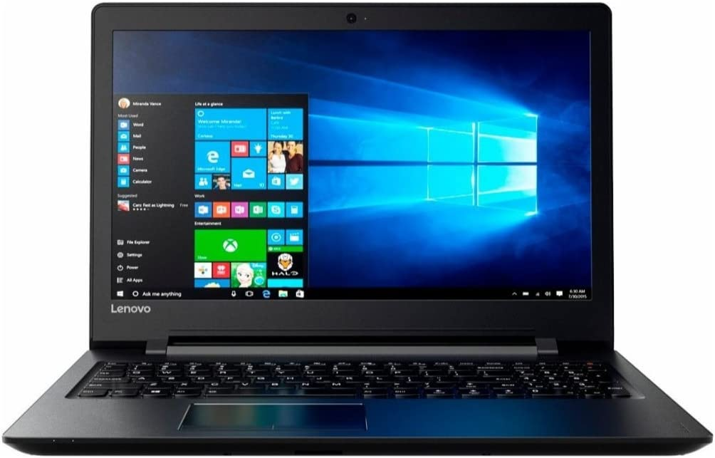 Lenovo IdeaPad Flagship High Performance 15.6 inch HD Laptop PC | A6-7310 Quad-Core | 4GB RAM | 500GB HDD | DVD+/-RW | HDMI | Ethernet | Windows 10 (Black)