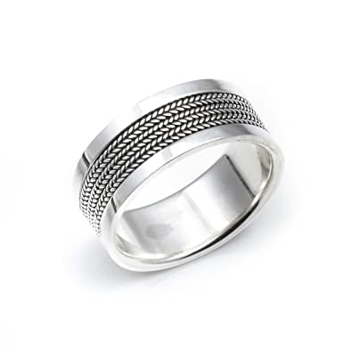 USA Seller Braided Band Ring Sterling Silver 925 Best Unisex Jewelry Selectable