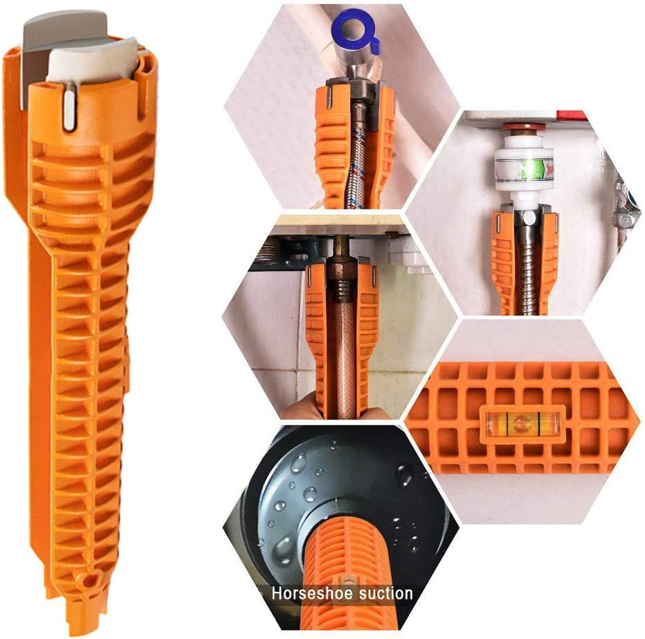 NXKang Multifunctional Faucet and Sink Installer Wrench Anti-Slip Handle Tool Plumbing