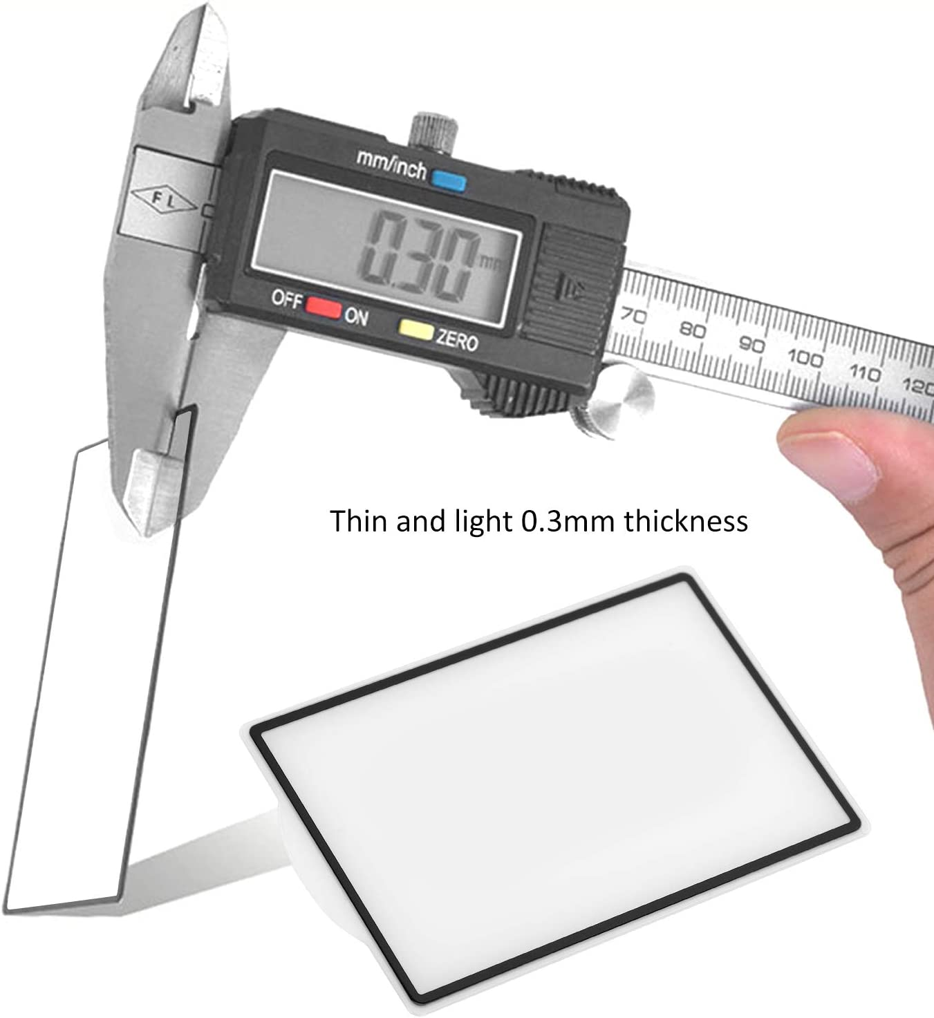 T opiky Couvercle de Protection d/écran LCD /à Film en Verre tremp/é Anti-Rayures pour Canon 1DX//1DX II Accessoires dappareil Photo sans Miroir