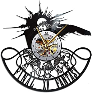 AroundTheTime Final Fantasy XV Clock, FFXV Gift Decor, Final Fantasy 15 Vinyl Record Wall Clock, FF15