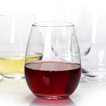94abc98607d Amazon.com | Stemless Wine Glasses, Wine Tumbler Glass, Durable Wine ...