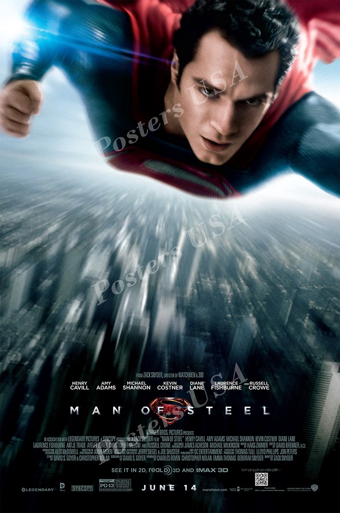 Amazon.com: Posters USA - DC Man of Steel Superman Movie ...