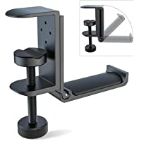 Foldable Headphone Stand Hanger Holder Bracket Aluminum Headphones Headset Clamp Hook Under Desk Space Save Mount Fold…