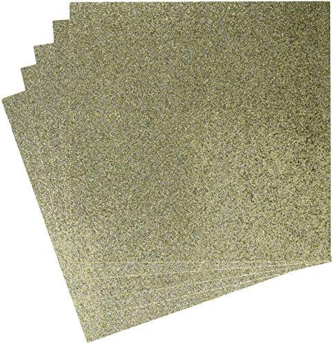 American Crafts Duotone Glitter Cardstock 12x12-Oatmeal 15 per Pack