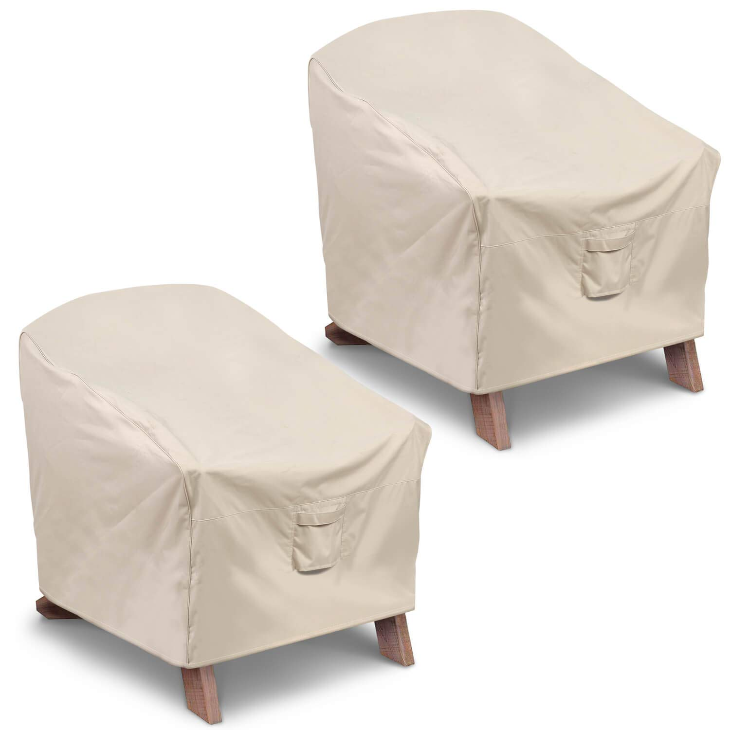 Vailge Patio Adirondack Chair Covers, Heavy Duty Patio Chair Cover, Waterproof Outdoor Lawn Patio Furniture Covers (Standard - 2 Pack,Beige)