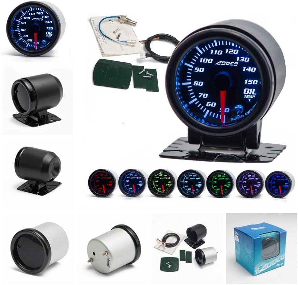 "2/""52mm Car Auto Oil Temp Gauge 50-150 Celsius 12V Car Oil Temp Gauge w// Sensor"