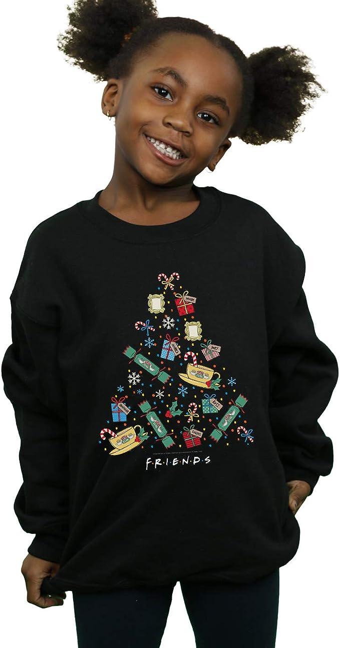 Absolute Cult Friends Girls Christmas Tree Lights Sweatshirt